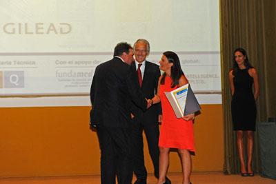 Antonio Rivero recoge el reconocimiento al mejor programa VIH/Sida.