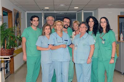 Algunos de los profesionales que trabajan en este hospital de día.
