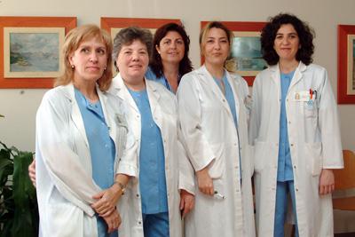 Grupo de enfermeras gestoras de casos del Hospital Reina Sofía