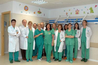 Profesionales de Cirugía Pediátrica.