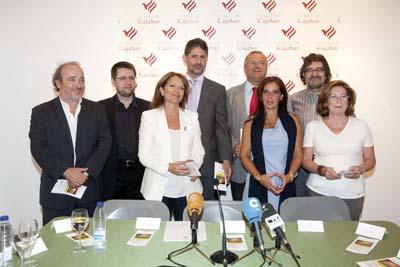 Autoridades y organizadores de los conciertos solidarios