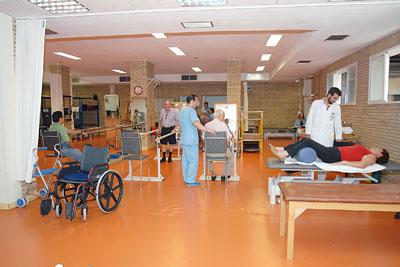 Imagen de archivo del gimnasio del Hospital Reina Sofía donde los pacientes reciben rehabilitación