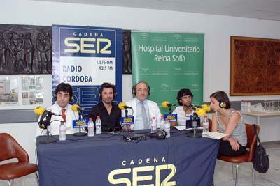 Poveda, Arcángel y responsables del hospital participaron en el programa