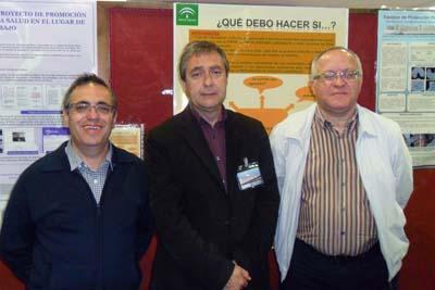 En la imagen, miembros de la unidad de prevención de riesgos laborales del Hospital Universitario Reina Sofía de Córdoba.