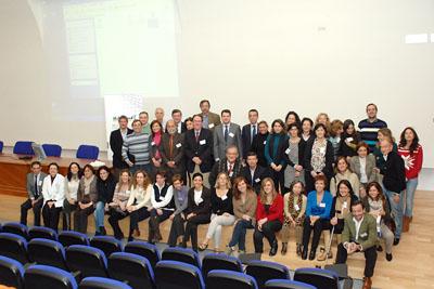Alergólogos españoles y portugueses reunidos en el hospital