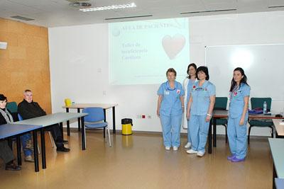 Algunas de las enfermeras de Cardiología que participan en el taller