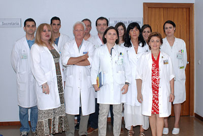 Algunos de los profesionales del Servicio de Oncología Radioterápica
