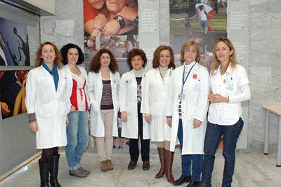Equipo de trabajadoras sociales del Hospital Reina Sofía