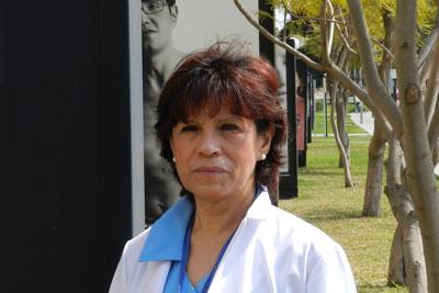 Clara Inés Flórez posa en el recinto hospitalario