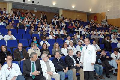 José Manuel Aranda se despide de los profesionales del hospital