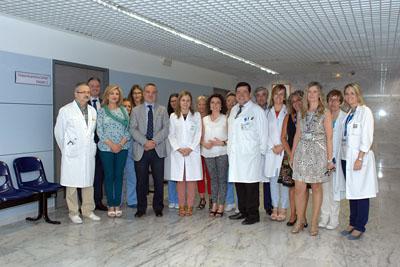 María Isabel Baena en el centro acudió a la inauguración del Caider del Hospital Reina Sofía