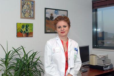 María José de la Torre en el hospital