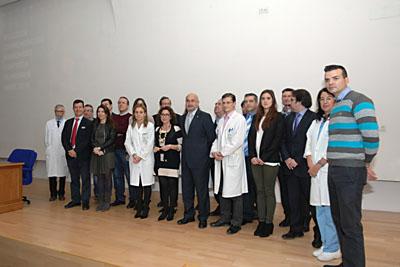 Premiados por el IMIBIC en la IV Lección Maimónides junto a responsables sanitarios