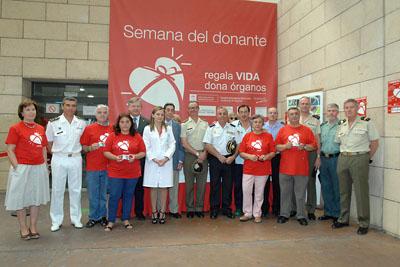 Representantes de las Fuerzas de Seguridad despiden la XII Semana del donante