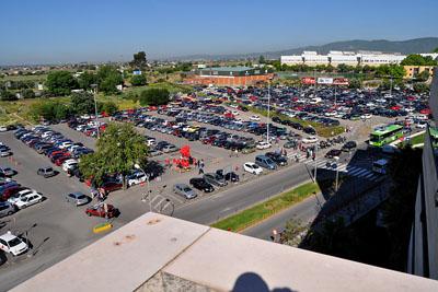 Imagen actual de parte de la zona cedida como aparcamiento