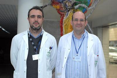 Los cirujanos Rubén Ciria y Javier Briceño