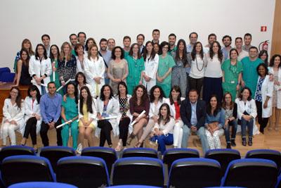 Residentes del Hospital Reina Sofía que estos días terminan su formación