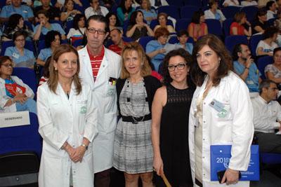 Marina Álvarez, Ignacio Muñoz, Nieves Lafuente, Mª Isabel Baena y Pilar Pedraza