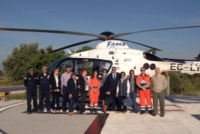 Foto de familia de la visita de médicos de Kazajistán