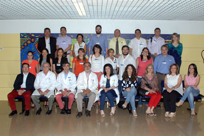 Reumatólogos de Perú, Colombia y del Hospital Reina Sofía que asisten al curso
