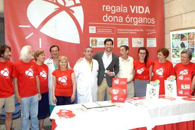 Manuel Lombo despidió con su visita la decimotercera Semana del donante