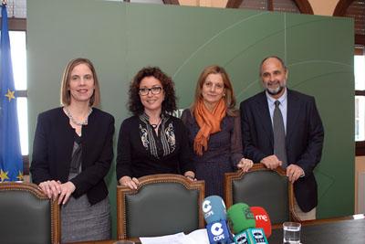 Icíar Ancizu, María Isabel Baena, Marina Álvarez y Antonio Llergo