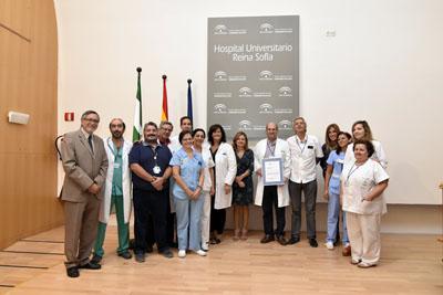 La ACSA entrega el certificado de calidad a la UGC de Cirugía