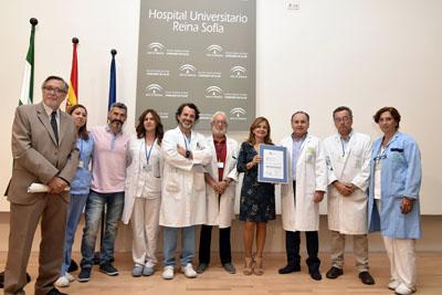 Marina Alvarez y profesionales de la UGC de Urgencias