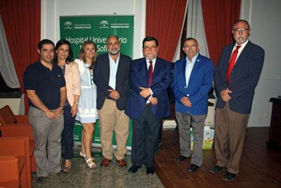 Profesionales del hospital, Francisco Santos, presidente de FECORAVE y presidente de F Miguel Castillejo