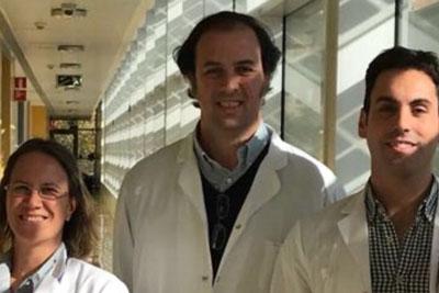 Los neurólogos Blanco Valero, Agüera Morales y Valverde Moyano