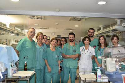 Equipo de investigadores de la UGC de Pediatria del hospital