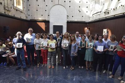 Autoridades, responsables y docentes en el acto de hoy de Cosmopoética