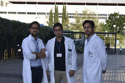 José Valero, Daniel López y Enrique Gómez