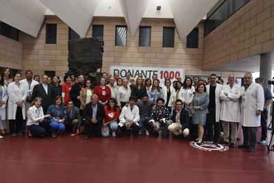 El Hospital Reina Sofía conmemora el donante 1000 de órganos sólidos y el donante 1.000 de médula ósea