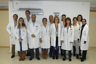 Equipo de profesionales de la unidad intercentros de Cuidados Paliativos