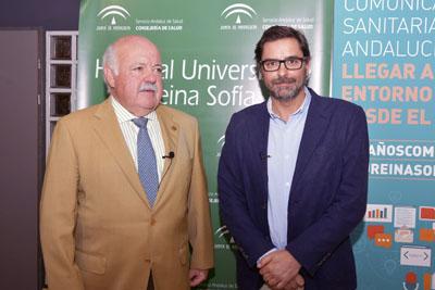 Jesús Aguirre y Valentín García charlan tras la inauguración del encuentro