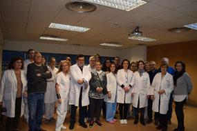 Profesionales del hospital y de distrito, junto a pacientes en las jornadas de EPOC