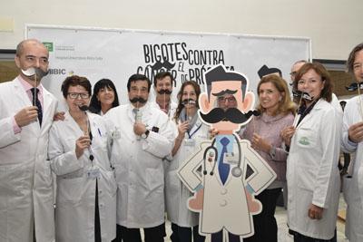 Responsables de los servicios implicados en el abordaje del cáncer de próstata, equipo directivo y delegada