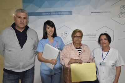 Los profesionales de Cirugía General y Digestiva acogen a pacientes en su ingreso
