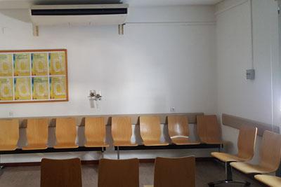 Antigua sala de espera Unidad Oftalmología Hospital Los Morales