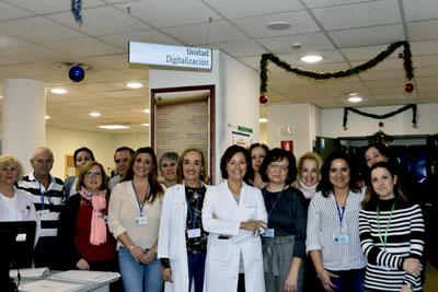 Valle García y el equipo de la Unidad de Digitalizacion
