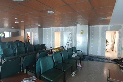 Obras ampliación servicio de Urgencias HURS
