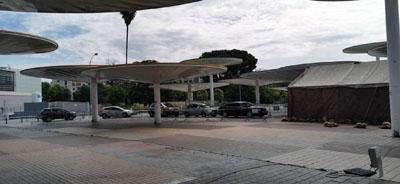 El Autocovid se ubica en el exterior del Centro Castilla del Pino