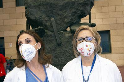 Las mascarillas de la Coordinación de Trasplantes luce el lema 'donar es amar'