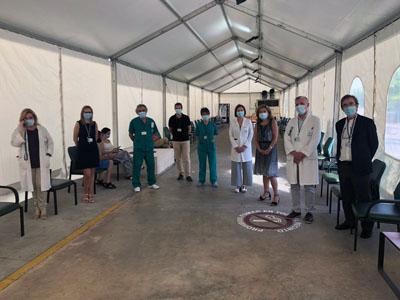 La delegada de Salud y Familias, María Jesús Botella, ha visitado hoy el nuevo espacio de urgencias