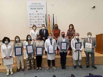 El Hospital Reina Sofía acogió el acto de entrega de certificaciones a 8 unidades