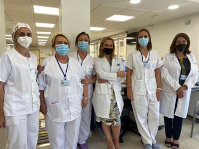 Profesionales de la Unidad de Hematología
