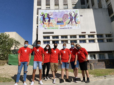 El mural 'Tu solidaridad resuena en mí' hace un nuevo llamamiento a la donación