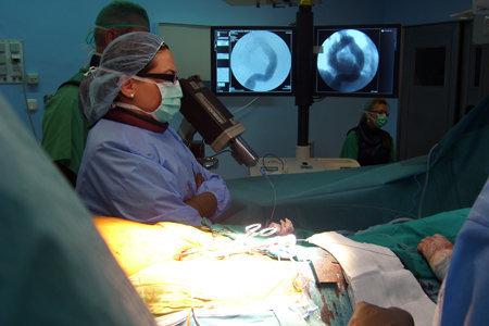 Cateter centrimetrado en aneurisma aorta torácica