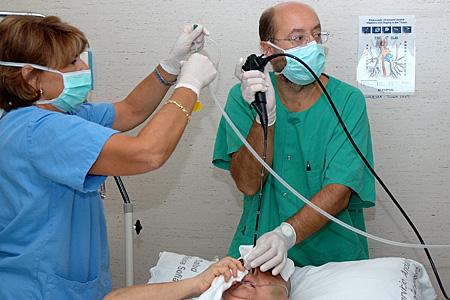Neumología. Durante la broncoscopia